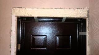Откосы и наличники на входную дверь из ламината(Светильник над дверью - автономный светодиодный с датчиком движения., 2015-01-27T15:51:43.000Z)