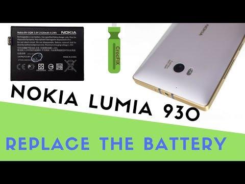 NOKIA LUMIA 930 Battery change - replace tutorial by CrocFIX
