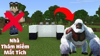 HƯỚNG DẪN TẠO RA QUÁI VẬT YETI (NGƯỜI TUYẾT), BA THẰNG BẠN MẤT TÍCH TRONG MCPE | Minecraft PE 1.2