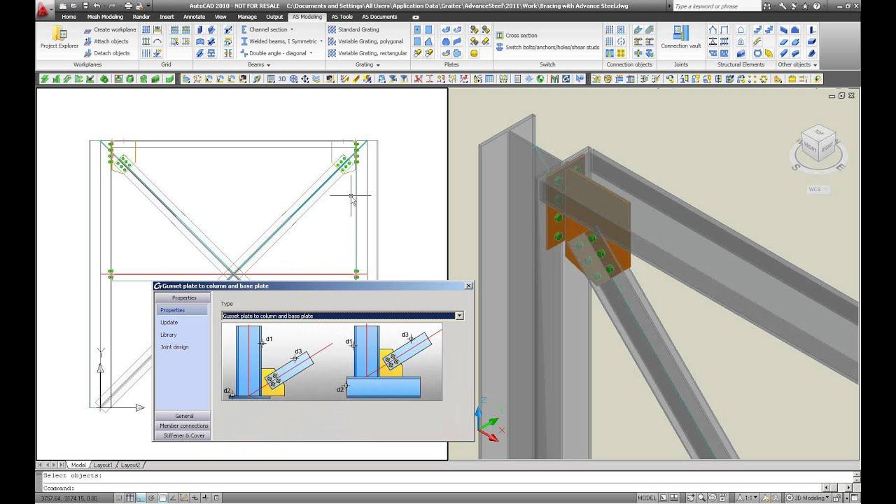 Autodesk Advance Steel Modellierung Von