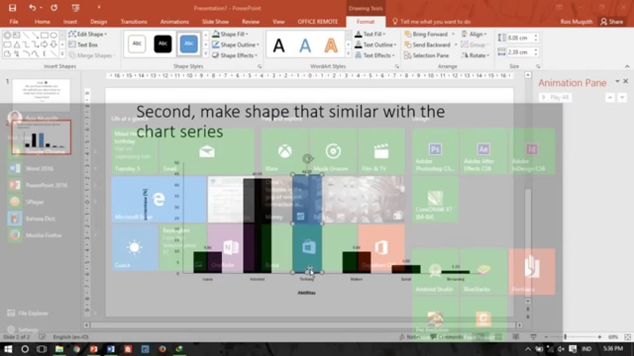 Powerpoint tutorial how to make bar chart animation cara membuat powerpoint tutorial how to make bar chart animation cara membuat animasi diagram batang ccuart Images