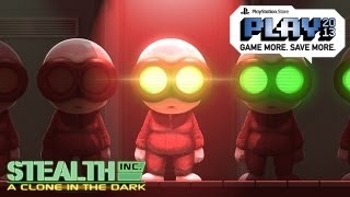 SNEAKY CLONES!! Stealth Inc: A Clone in the Dark Gameplay (Playstation Store PLAY 2013 HD)