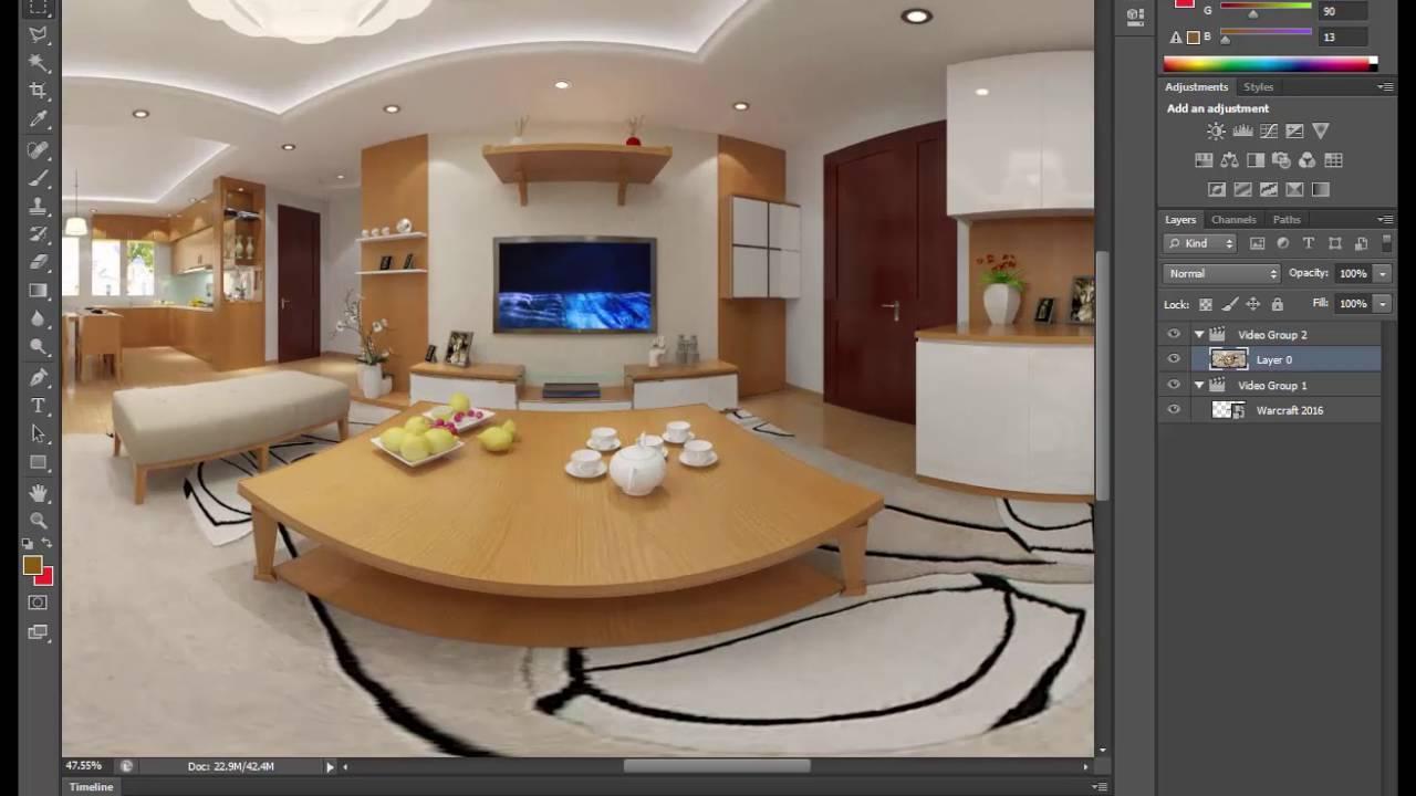 ✓ Cách Làm Video Xem 360 Độ Có Video Chạy Lồng Bên Trong - PhuongTk   NESA iCAD - YouTube