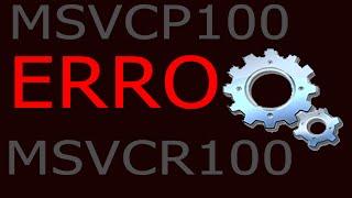 Como corrigir o erro msvcp100.dll e msvcr100.dll