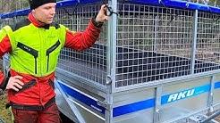 Akujelppi esittelee: AKU CP410 lavavaunu / 2750 kg jarrullinen peräkärry.