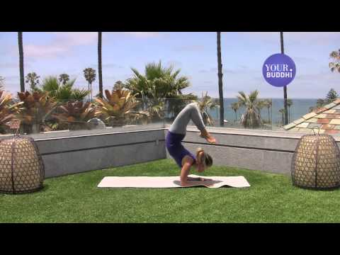 yogaTip: Advanced: Forearm Stand to Scorpion Pose