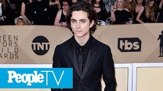 Timothée Chalamet Teases His Mom (And SAG Awards Date) Over Their Last Name | PeopleTV