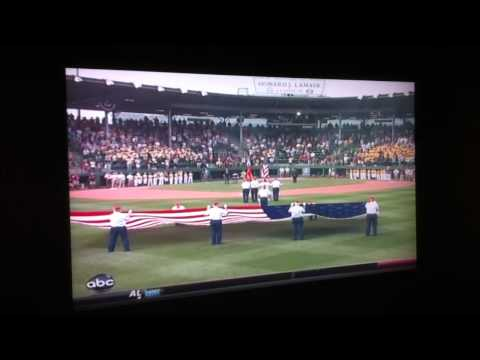 Me singing the National Anthem at the 2011 US Little League World Series Championship Game
