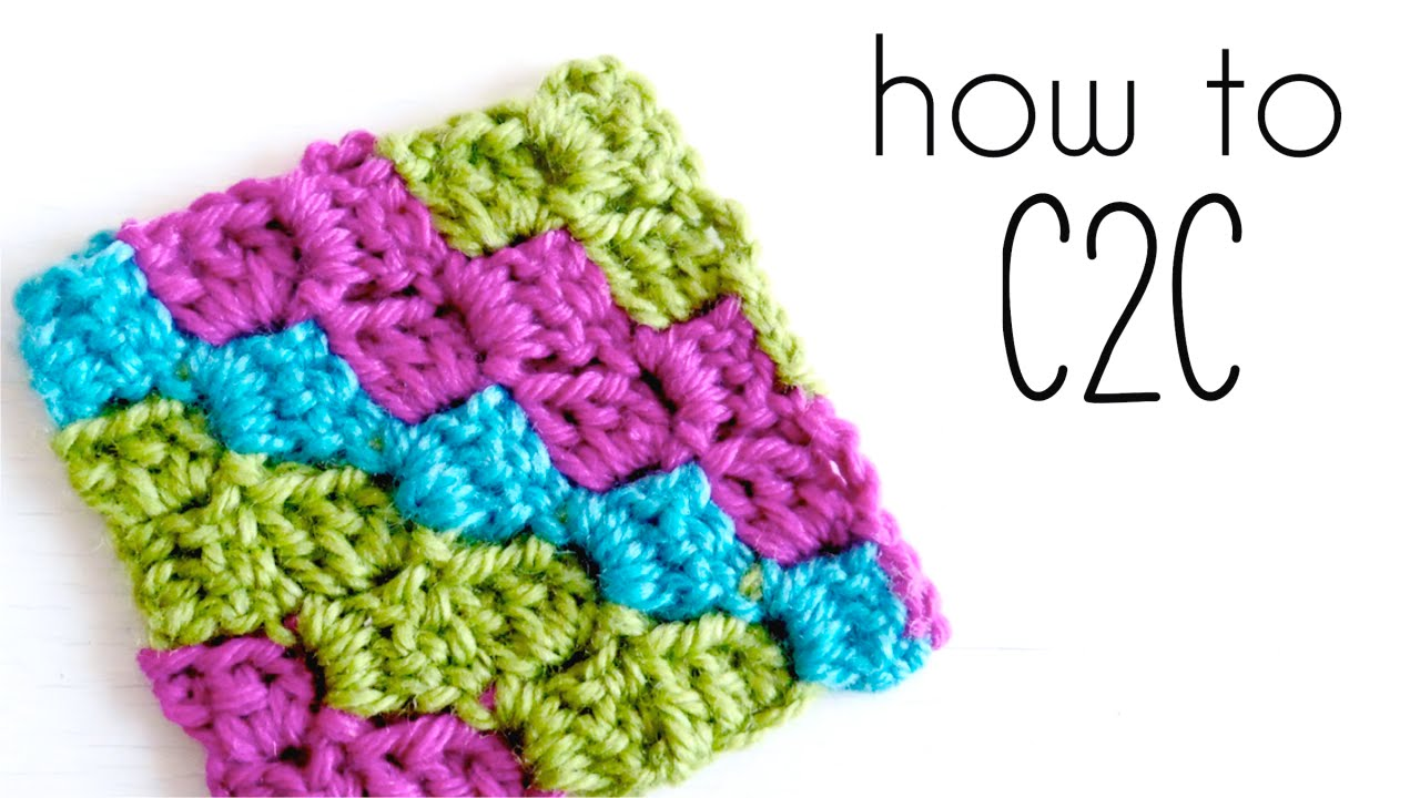 Crochet Stitches C2c : How to crochet C2C Corner to Corner crochet tutorial ? CROCHET ...