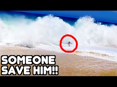 TOURISTS CAUGHT IN HUGE WAVES!! Cabo San Lucas Mexico | JOOGSQUAD PPJT