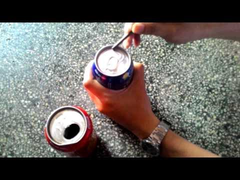 Cách khui lon bia, nước ngọt nổ rất zui
