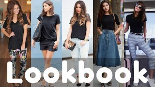 Black T-Shirt Outfits Ideas Trend 2018 Lookbook | How to style black tshirt