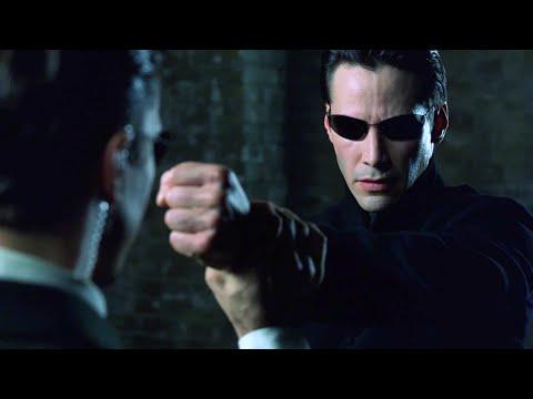Neo vs Agents   The Matrix Reloaded [Open Matte]