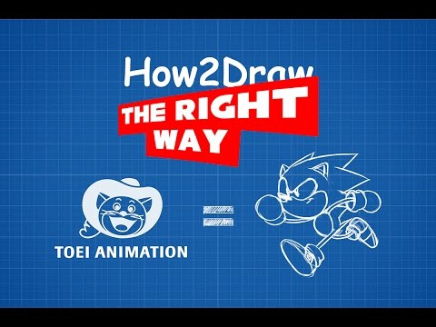 How2Draw THE RIGHT WAY: Toei Sonic (Tutorial)