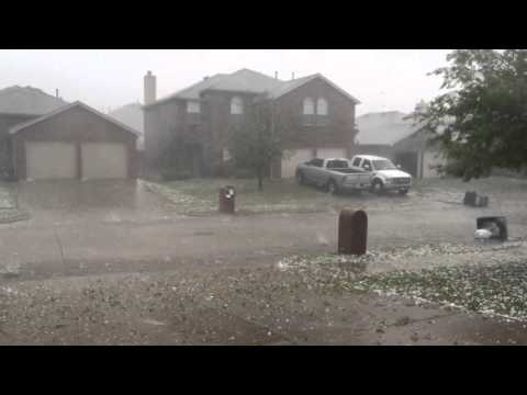 Thumbnail: Hail storm in Wylie Texas April 11, 2016
