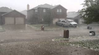 Hail storm in Wylie Texas April 11, 2016