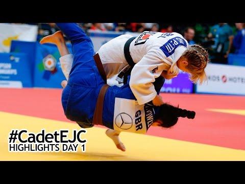 Cadet European Judo Championships: HIGHLIGHTS DAY 1