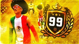 I HIT 99 OVERALL ON THE MOST OVERPOWERED POST SCORER BUILD IN 2K19! 99 OVERALL REACTION!