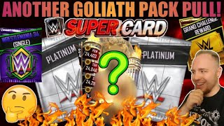 OPENING 2 GOLIATH PLATINUM PACKS, GOLIATH PULL! WM 34 SINGLE PACK OPENED! WWE SuperCard Season 4!