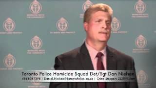 Chris Thompson Toronto Homicide Investigation Detective Sergeant Dan Nielsen Media Update Jan25/2012