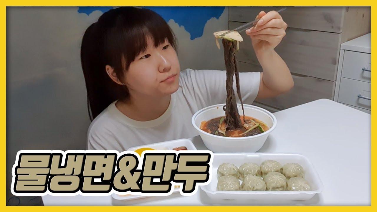 여름 대표음식 물냉면, 만두 먹방~[김초딩]