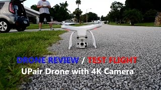 dJI Phantom Clone Drone Review and Test Flight of a  UPAIRONE