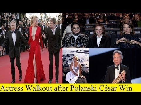 Women walk out of French 'Oscars' to protest Roman Polanski win