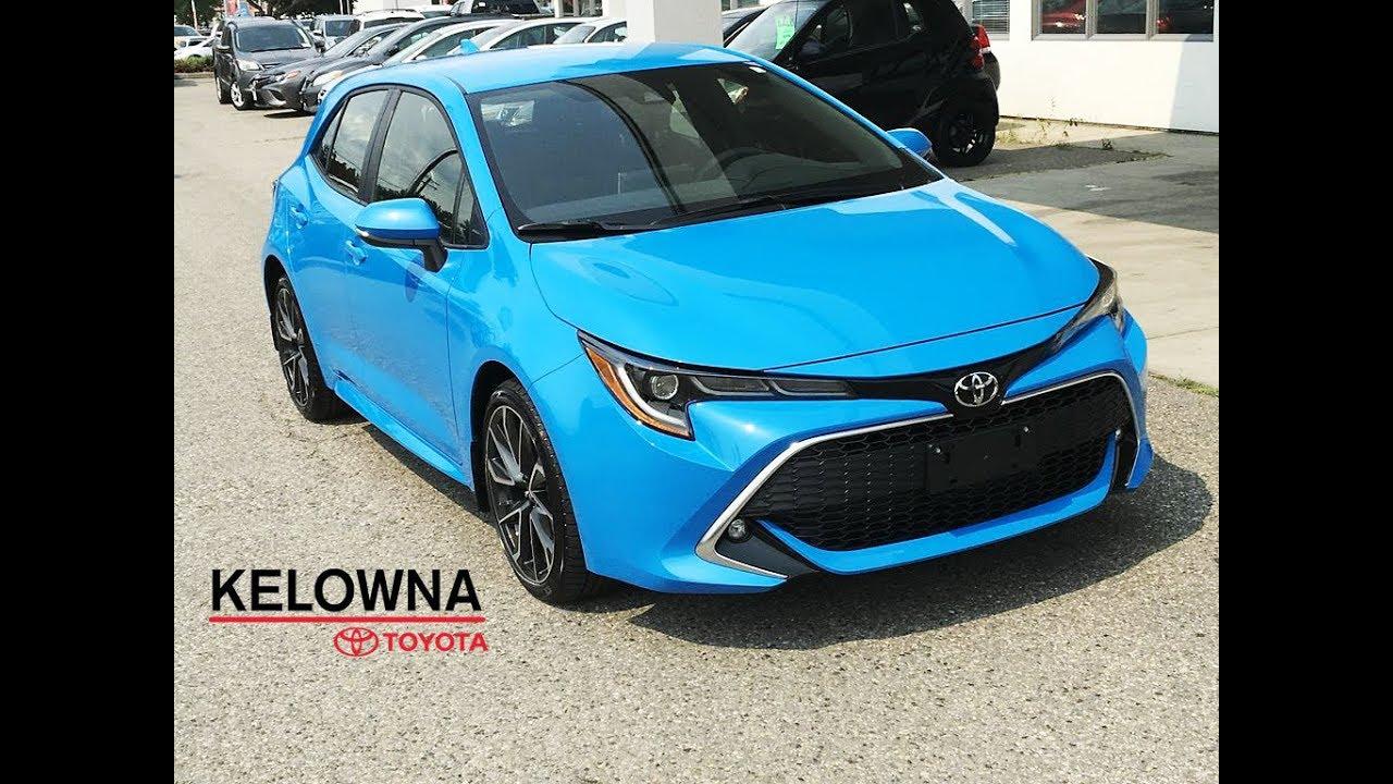 2019 Toyota Corolla Xse Hatchback Blue Flame Youtube