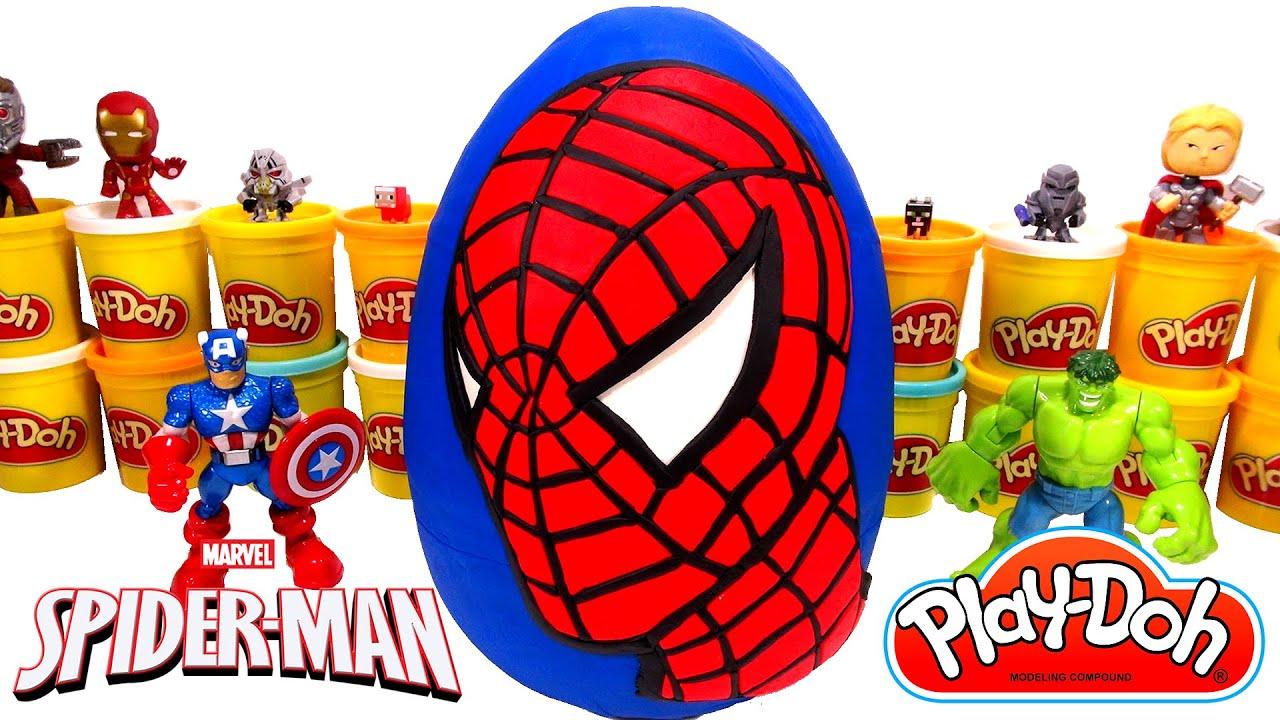 Huevo Sorpresa Gigante de SpiderMan Hombre Araa en Espaol