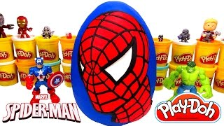 Huevo Sorpresa Gigante de Spider-Man (Hombre Araña) en Español Plastilina Play Doh thumbnail