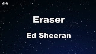 Eraser - Ed Sheeran Karaoke 【With Guide Melody】 Instrumental