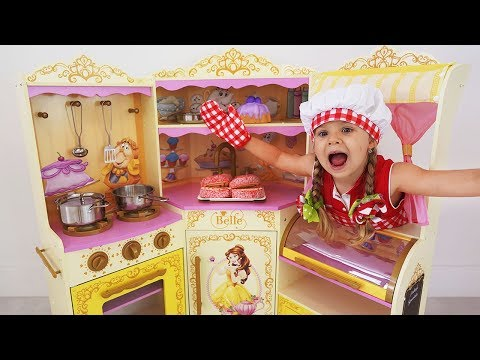 Roma and Diana Playing Cafe | Compilation video with food toys