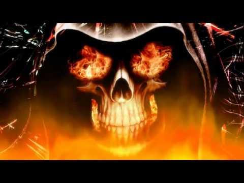 fire skull screensaver youtube