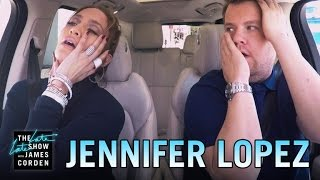 Jennifer Lopez Carpool Karaoke(James Corden and Jennifer Lopez carpool to CBS singing some of her most popular tracks before James takes Jennifer's phone and sends a text to Leonardo ..., 2016-03-30T02:54:04.000Z)