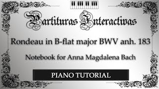 Rondeau in B-flat major BWV Anh. 183 'Les Bergeries' (The Sheepfolds) PIANO TUTORIAL - F. Couperin