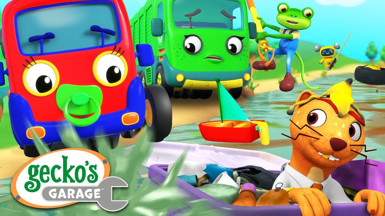 Baby Truck's Toy Boat | Gecko's Garage | Trucks For Children | Cartoons For Kids