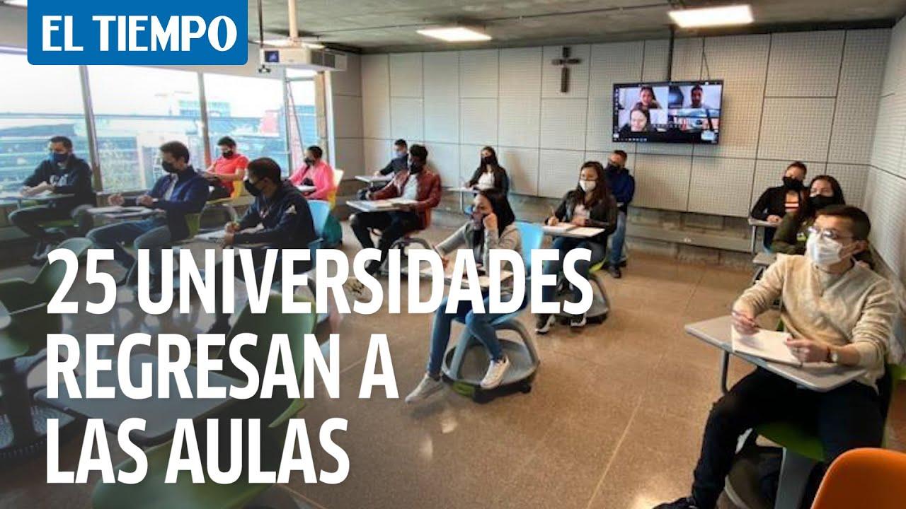 25 universidades privadas de Bogotá recibieron la autorización  para regresar a clases presenciales