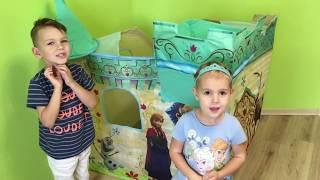 Замок Принцессы Frozen и Киндер Сюрприз