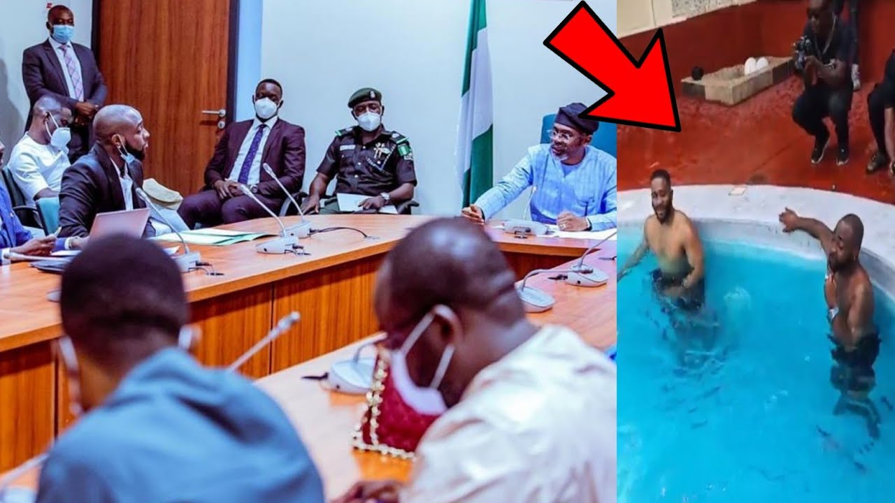 Full Video:Davido Swims with Kiddwaya after Meeting with Speaker & the IG on #EndSars in Abuja