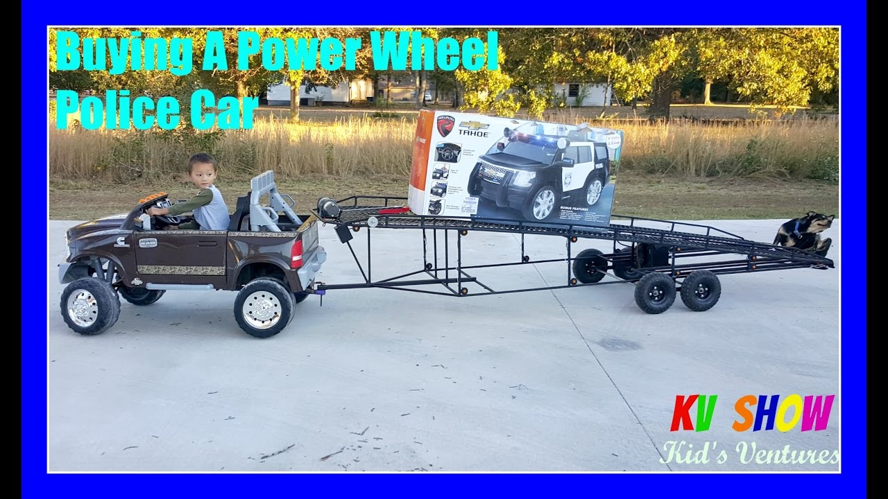 Buying A Power Wheel Ride On Chevy Tahoe Police Car At