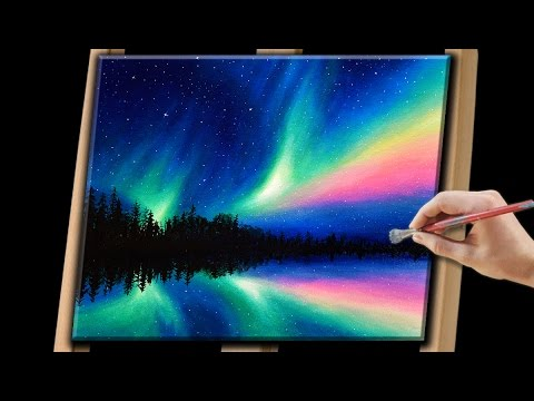 Painting the Northern Lights with Acrylics