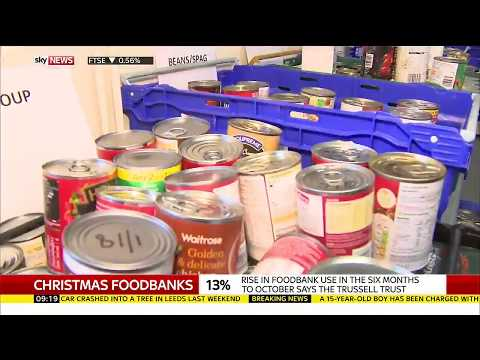 Benefit delays and Universal Credit are the reasons foodbanks under pressure this Christmas