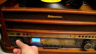 Roadstar CD/MP3 player with turntable, stereo radio, cassette and usb encoding