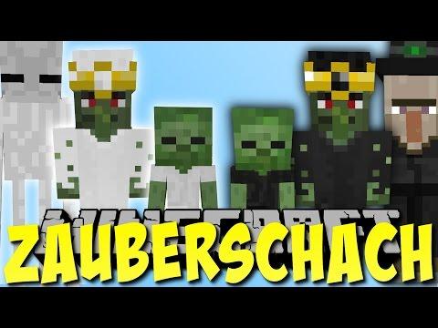 Minecraft SCHACH MOD Mit MOBS Zauberschach Deutsch Ржачные - Minecraft mods deutsch spielen