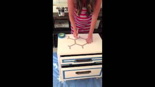 Diy Honeycomb Side Table Using Scotchblue Painter's Tape
