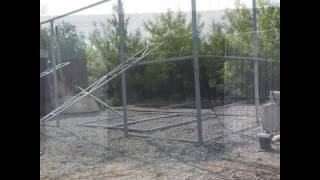 Склад. Гараж. Сарайка 6х4 метра,  из металлокаркаса и профнастила.(, 2016-05-26T17:11:26.000Z)