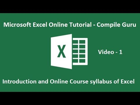 introduction and online course syllabus of excel microsoft excel