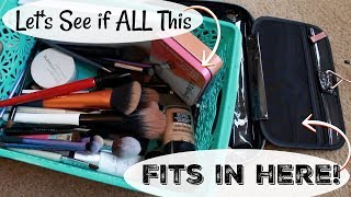 Pack My Travel Makeup Bag With Me…Again! | Case Up Miami | Realistic Travel Makeup Bag | Katie Marie