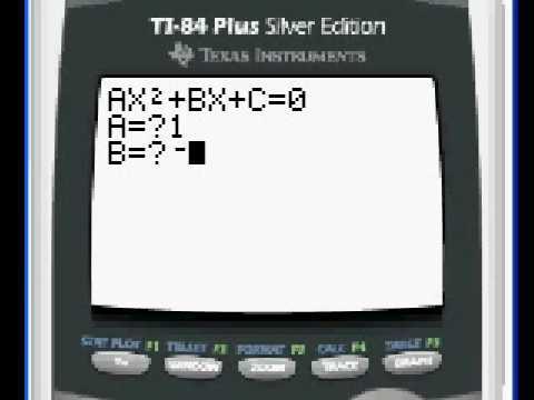 Quadratic Equations On The Ti 83 Ti 84 Youtube