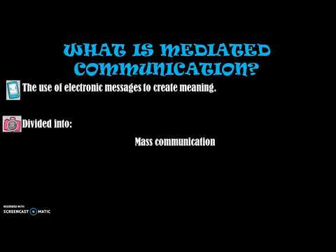 Mediated Communication And Media Literacy